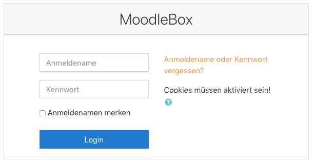 Anmelden in Moodle
