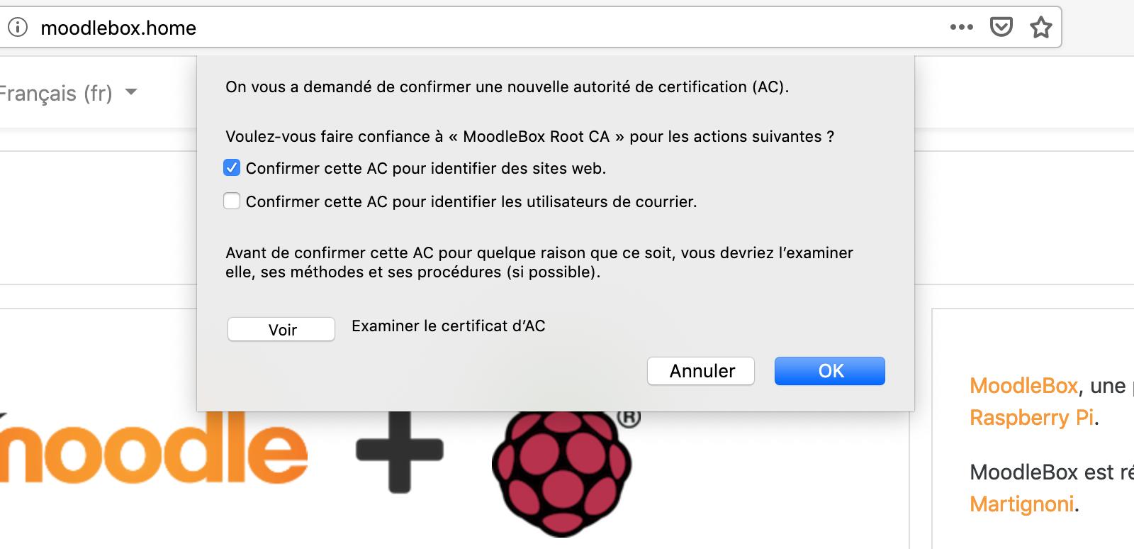 Configurer le certificat CA avec Firefox